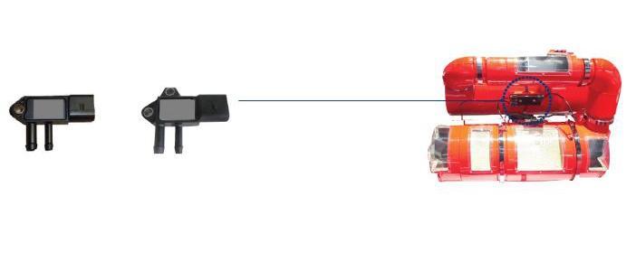 Pressure sensor for DPF system