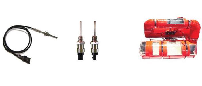 Temperature sensor for EGR & DPF system