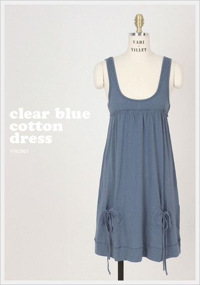 Clear Blue Cotton Dress[Villet Co., Ltd.]