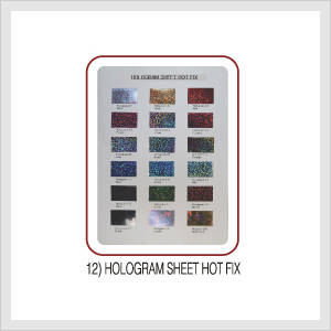 Hologram Sheet Hot Fix (Hs Code : 8308.90....