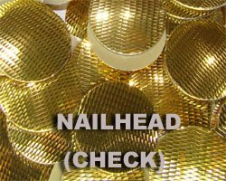 Hot Fix Check Cut Nailhead
