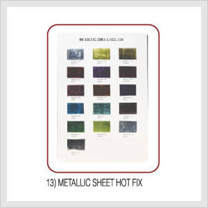 Metallic Sheet Hot Fix (Hs Code : 8308.90....