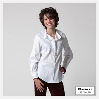 White Tie Ruffled Collor Blouse
