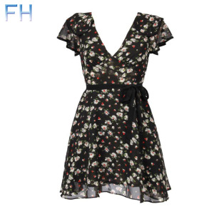 ladies dress-fh20338  Made in Korea
