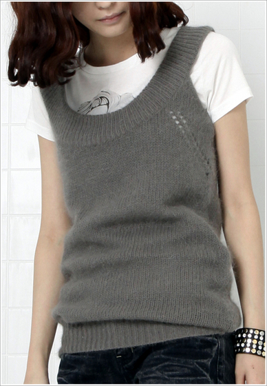 Knitted Angora Onepeace KG-10061