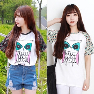 Nightmare - Owl Half Sleeves T-Shirt