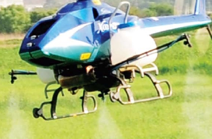 Agricultural unmanned helicopter X-copter  Made in Korea