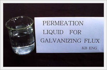 Penetrant Liquid for Galvanizing Flux