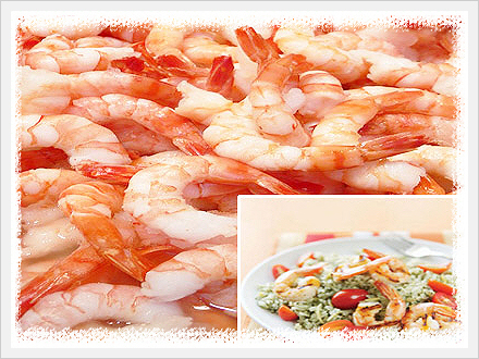 Cooked Peeled and Deveined Tail-on Shrimp