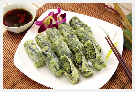 Deep Fried Chlorella Seaweed Roll  Made in Korea