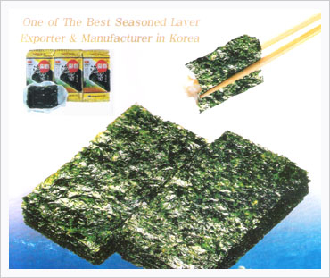 Seasoned Laver or Dried & Raw Seaweed  Made in Korea