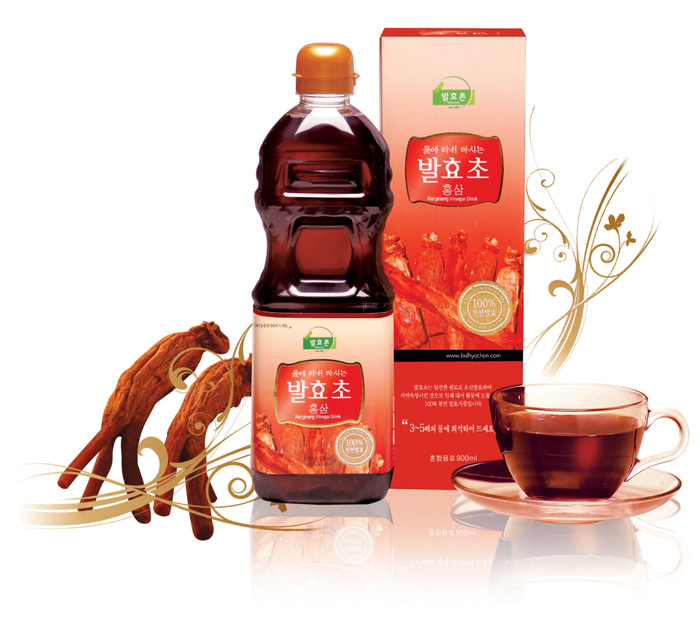 Red-ginseng vinegar drink