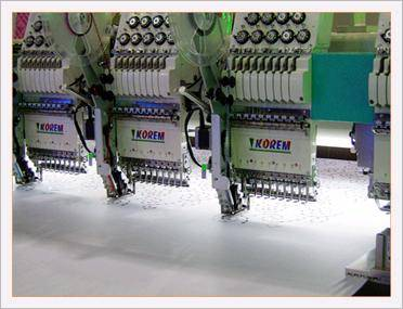 Frameless Roll Type Embroidery Machine
