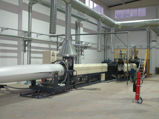 PS Foam Sheet Extruder from Korea.