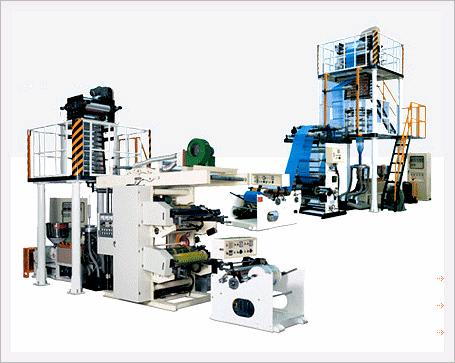 HDPE Blown Film Extrusion Line with Printi...