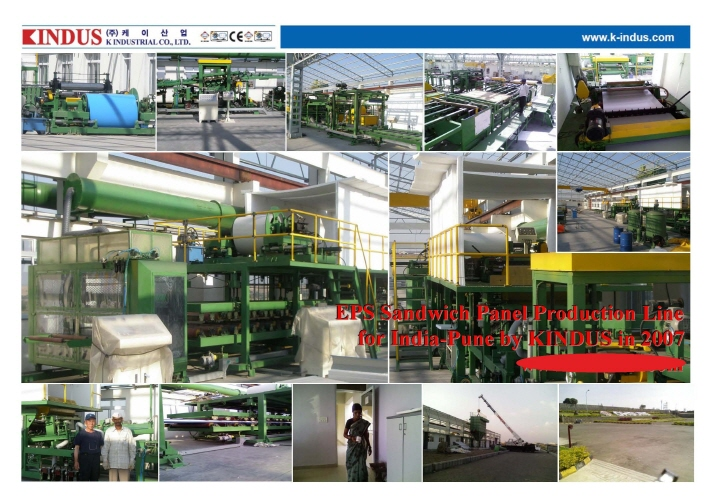 Continuous EPS Sandwich Panel Line  Made in Korea