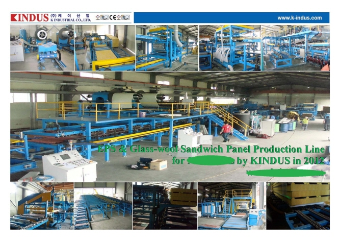 Continuous Glass-wool Sandwich Panel Manuf...