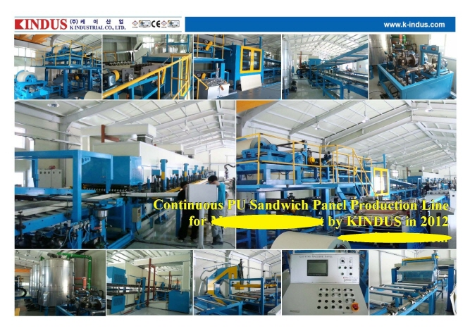 Insulated Sandwich Panel Production Line  Made in Korea