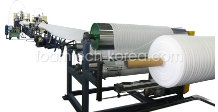 PE foam sheet extrusion line  Made in Korea