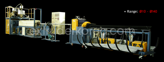 PE Foam Tube Extruder Korea.