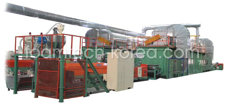 XPE foam sheet production line  Made in Korea