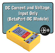 DC Current and Voltage, Input Only