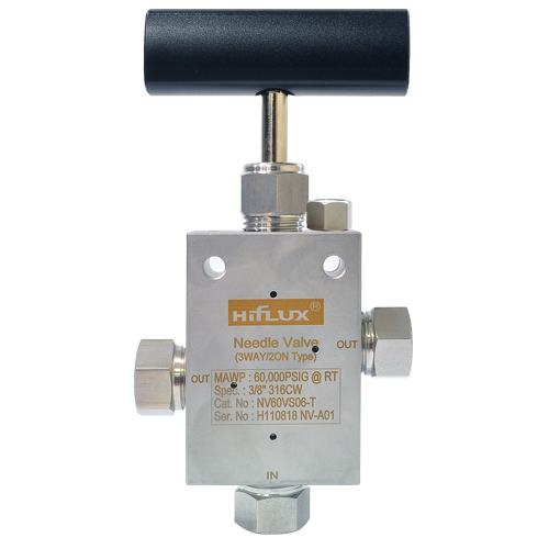 High Pressure Needle Valve - 3Way/2on Type  Made in Korea