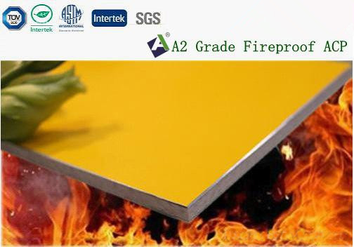 A2 grade fireproof aluminium composite pan...  Made in Korea