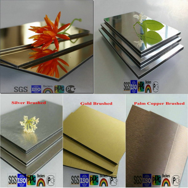 golden/silver mirror and brush finished al...  Made in Korea