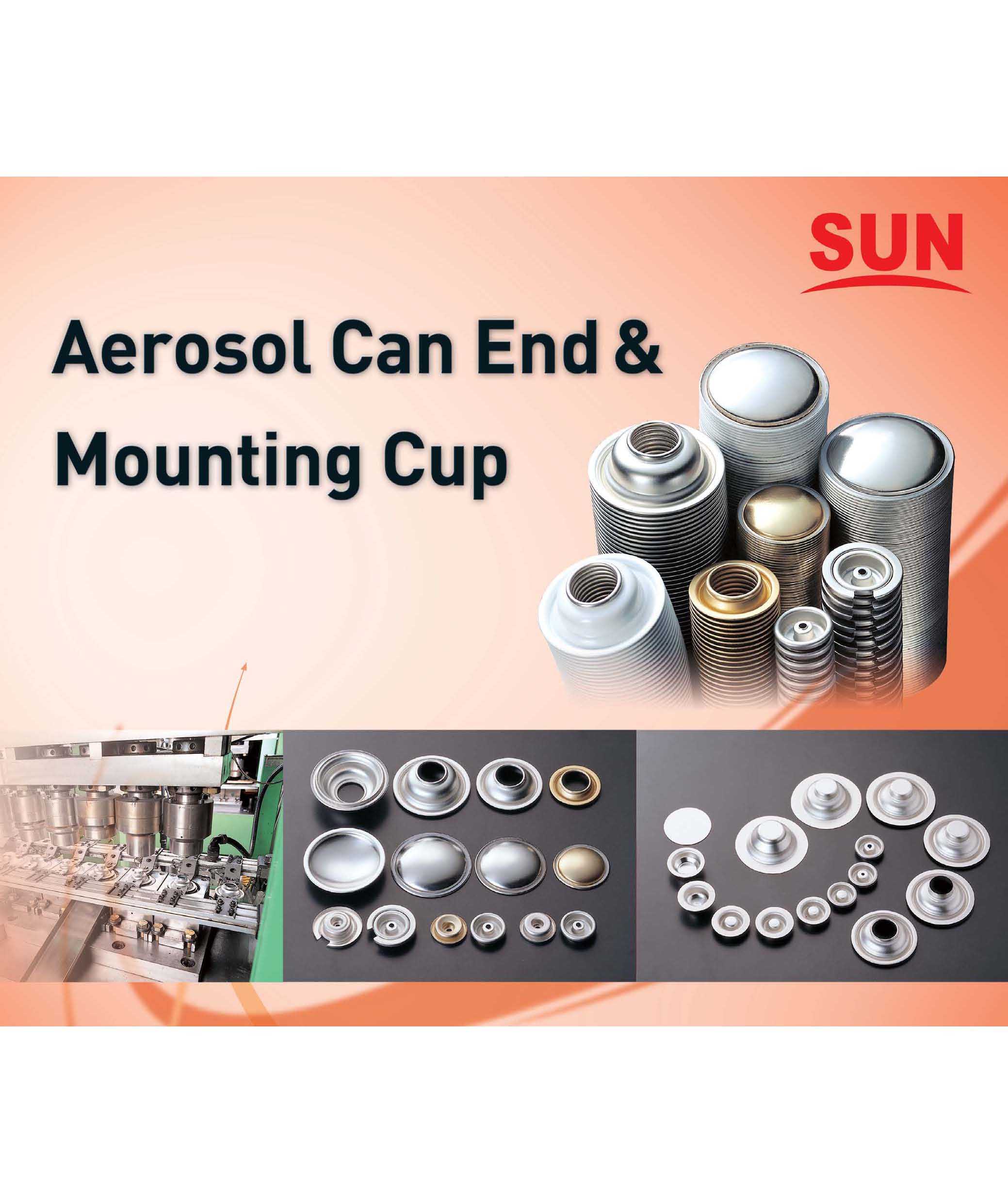 AEROSOL CAN END & MOUNTING CUP