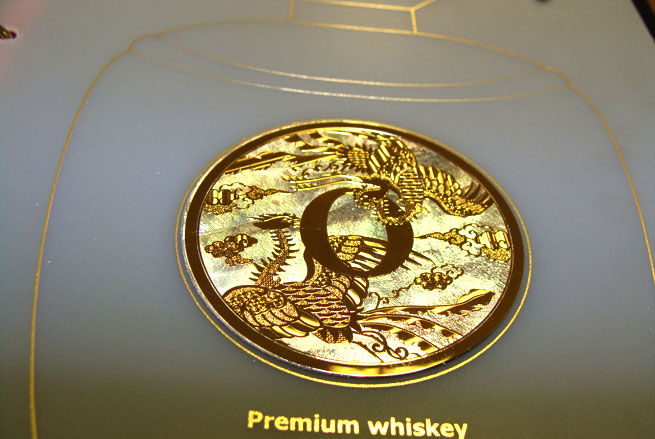 Metal Sticker for Whiskey Bottle