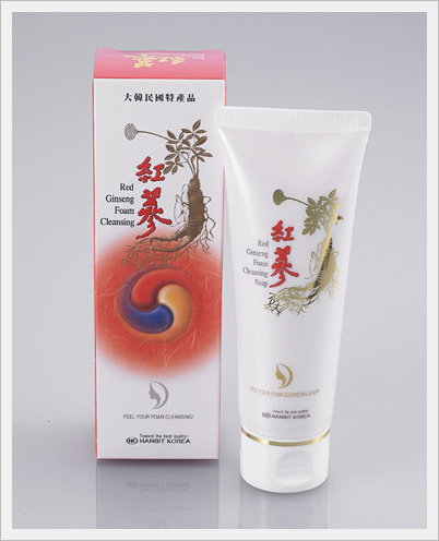 Red Ginseng Foam Cleansing Soap
