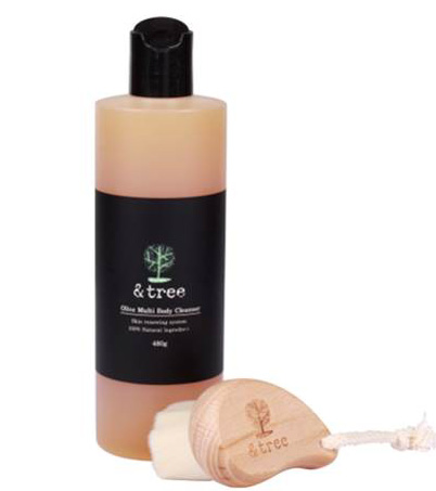 Olive body cleanser