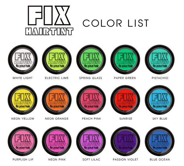FIX HAIR TINT (FULL COLORS)