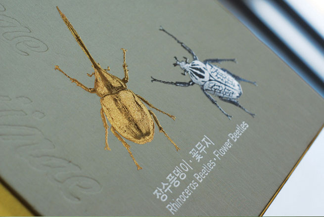 Metal Sticker for Book Cover_beetle