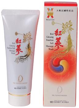 Red Gingseng Bamboo, Salt Massage Wash  Made in Korea