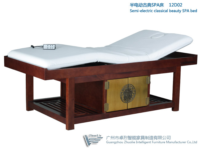 semi electric wood spa bed with Goldleaf d...  Made in Korea