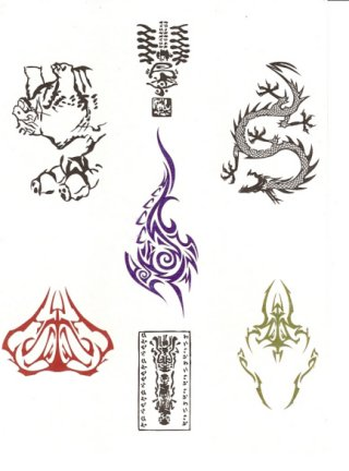 Tattoo Stickers(transfered by water)  Made in Korea