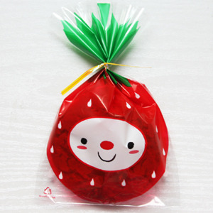 Cute Strawberry plastic cookie packaging  Made in Korea