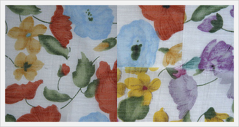 Flower Printed Polyester Woven Fabrics