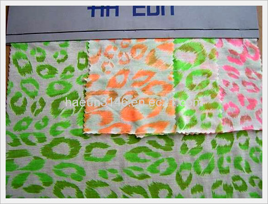 Rayon Polyester Blend Neon Printing Ssprin...