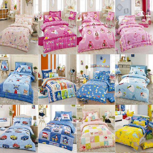Character Printed Children\'s Bedding Set  Made in Korea