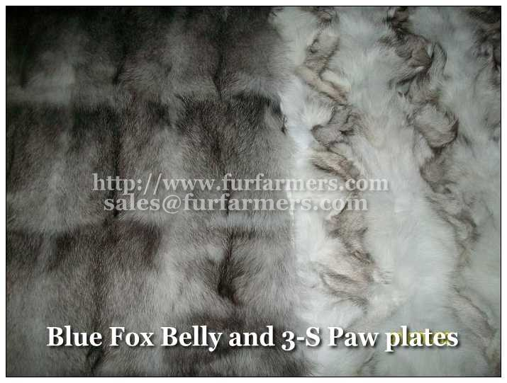 Fur Scrap Plates of Various Articles  Made in Korea