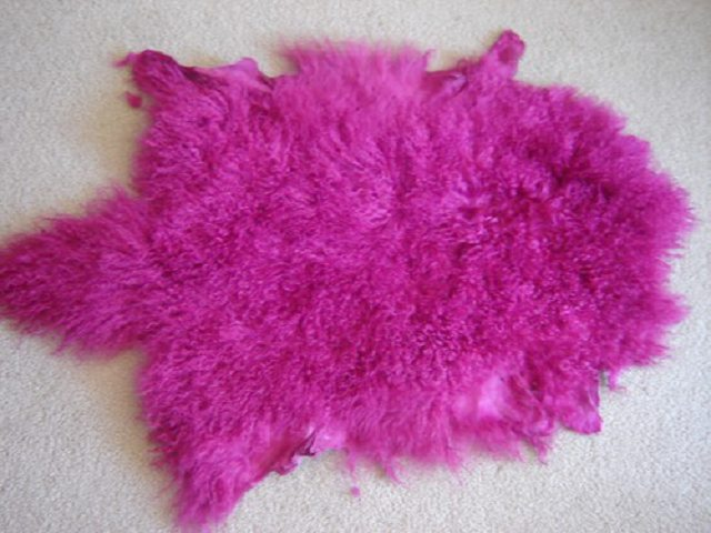 mongolian lamb fur pelt  Made in Korea