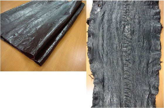 leather(GIANT EEL Skin)  Made in Korea