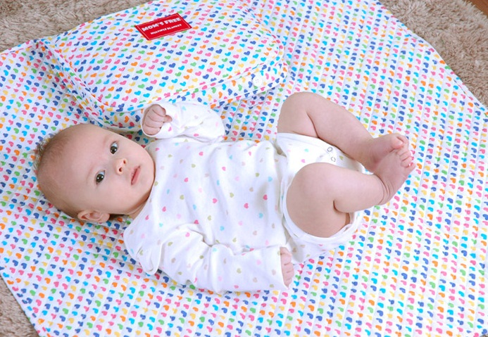 Portable Baby Mat With Latex Pillow