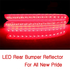[ All New Rio(Pride 2012~) auto parts ] All New Rio(Pride 2012~) LED Rear Bumper Reflector(1:1Replacement)(4Door)