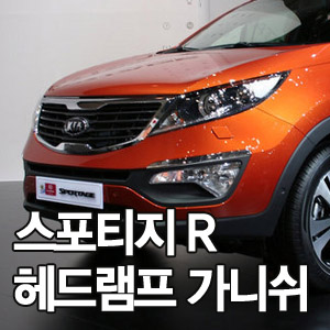 [ Sportage R auto parts ] Chrome Head lamp mording