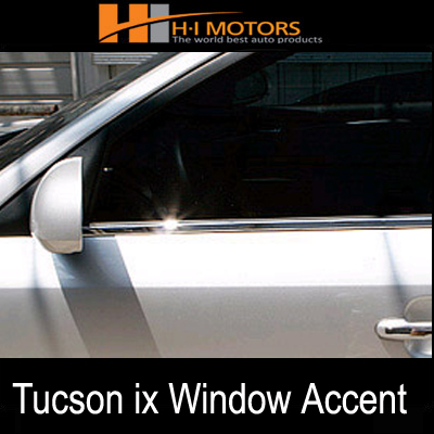 [ Hyundai Tucson ix 2010~2011 auto parts ] Chrome window accent molding