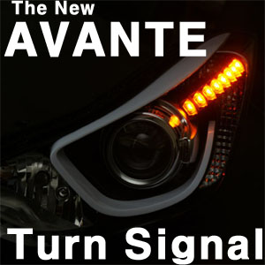 [ Elantra 2014(The New Avante) auto parts ] Elantra 2014(The New Avante) LED Front Turn Signal Module